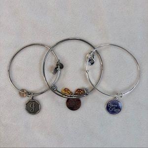 Silver Alex and Ani Bracelets